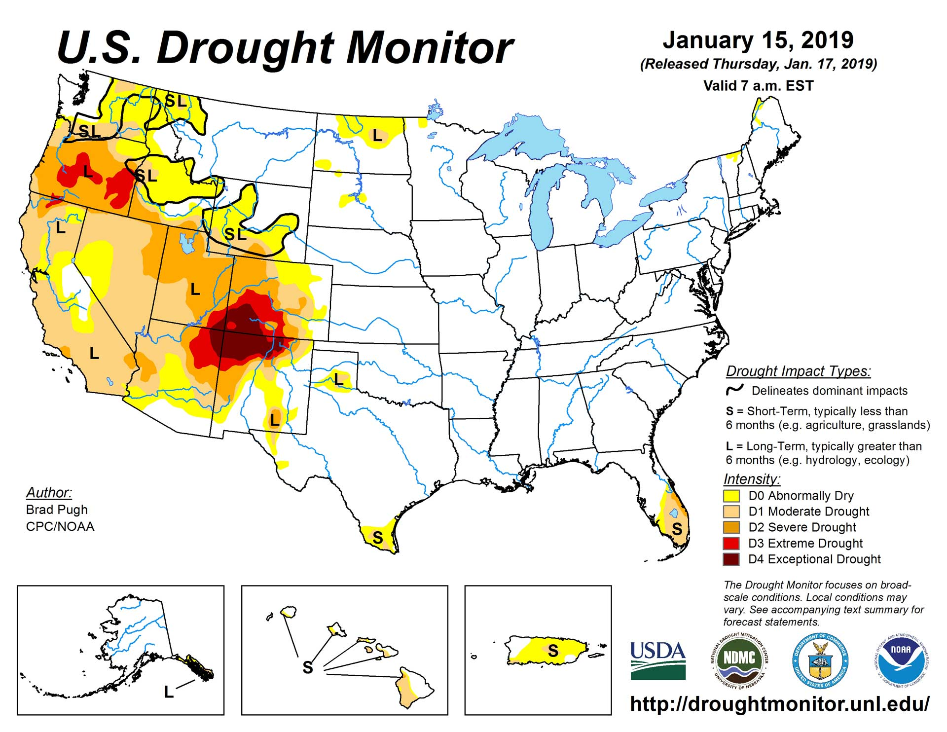 Droughtmonitor Jan 2019