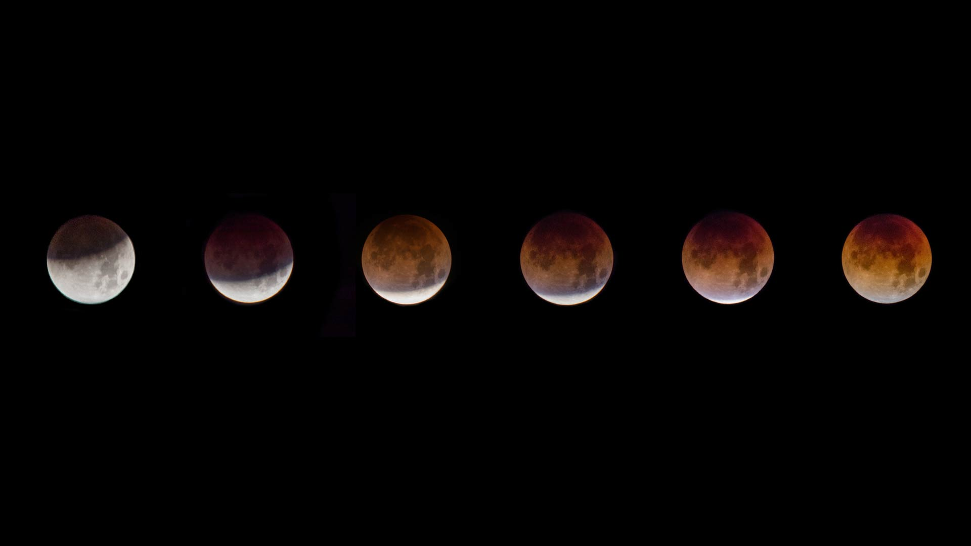Image of the phases of a super blue blood moon, taken in northwest Tucson on Jan. 31, 2018.