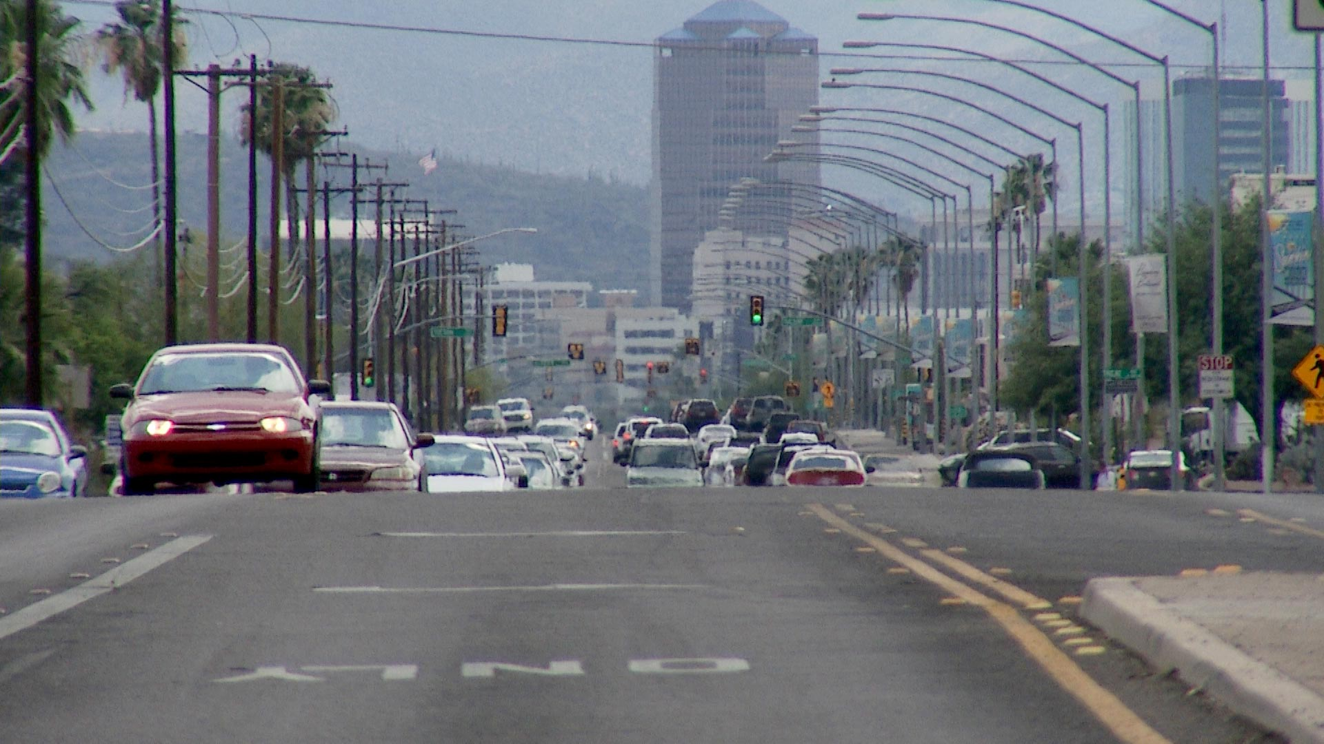 Downtown Tucson seen from afar.