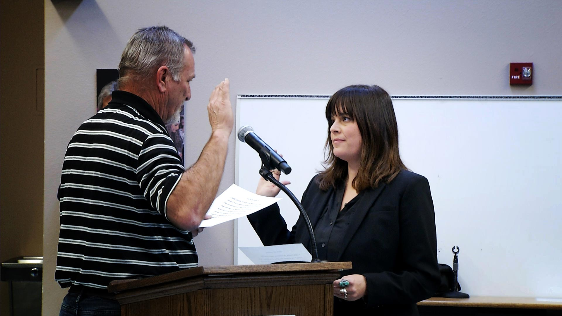 Leila Counts is sworn in as the newest board member of the Tucson Unified School District on January 8, 2019.