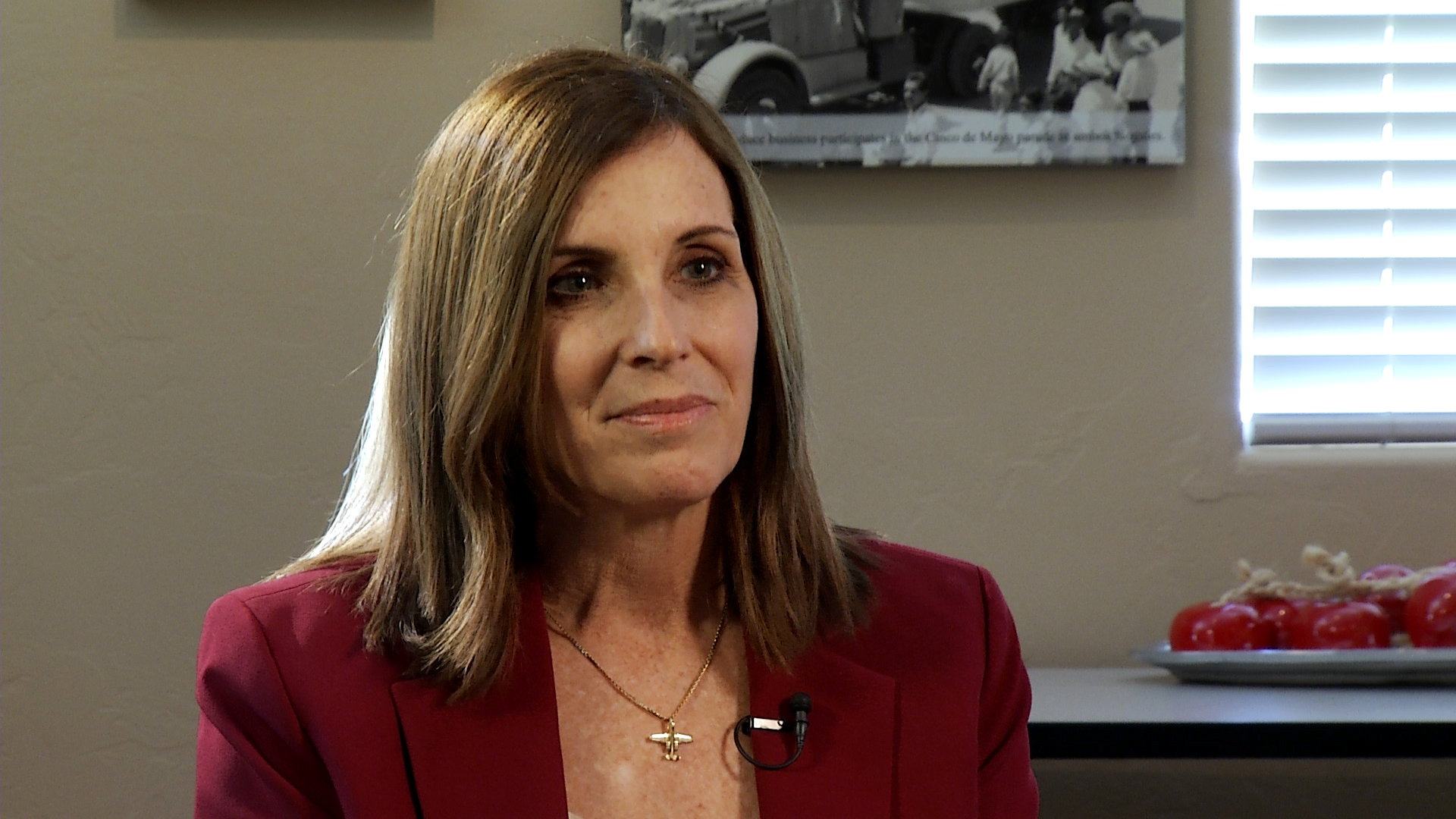 Sen. Marth McSally (R) during an interview with Arizona 360 at the Fresh Produce Association of the Americas in Nogales, Arizona on January 22, 2019.