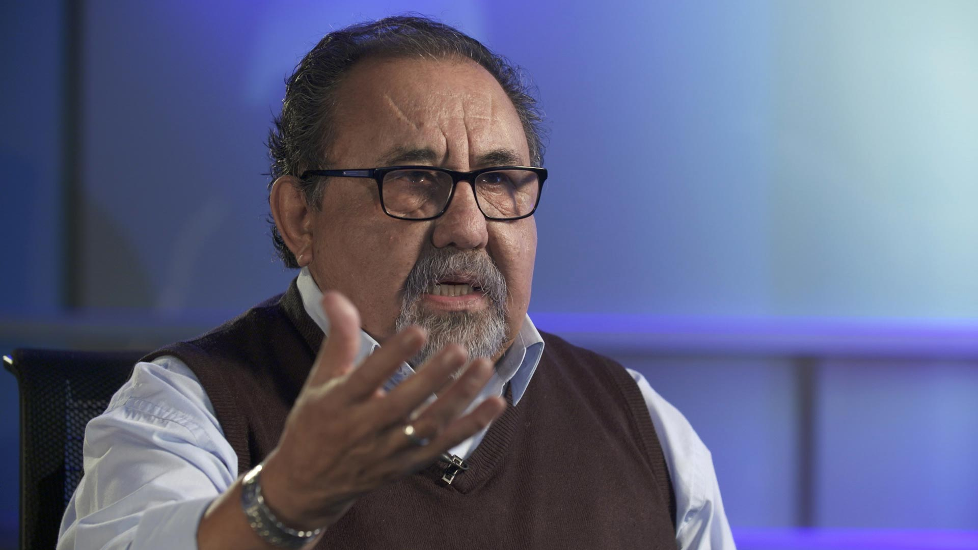 Rep. Raúl Grijalva (D) during an interview at Arizona Public Media on January 18, 2019.