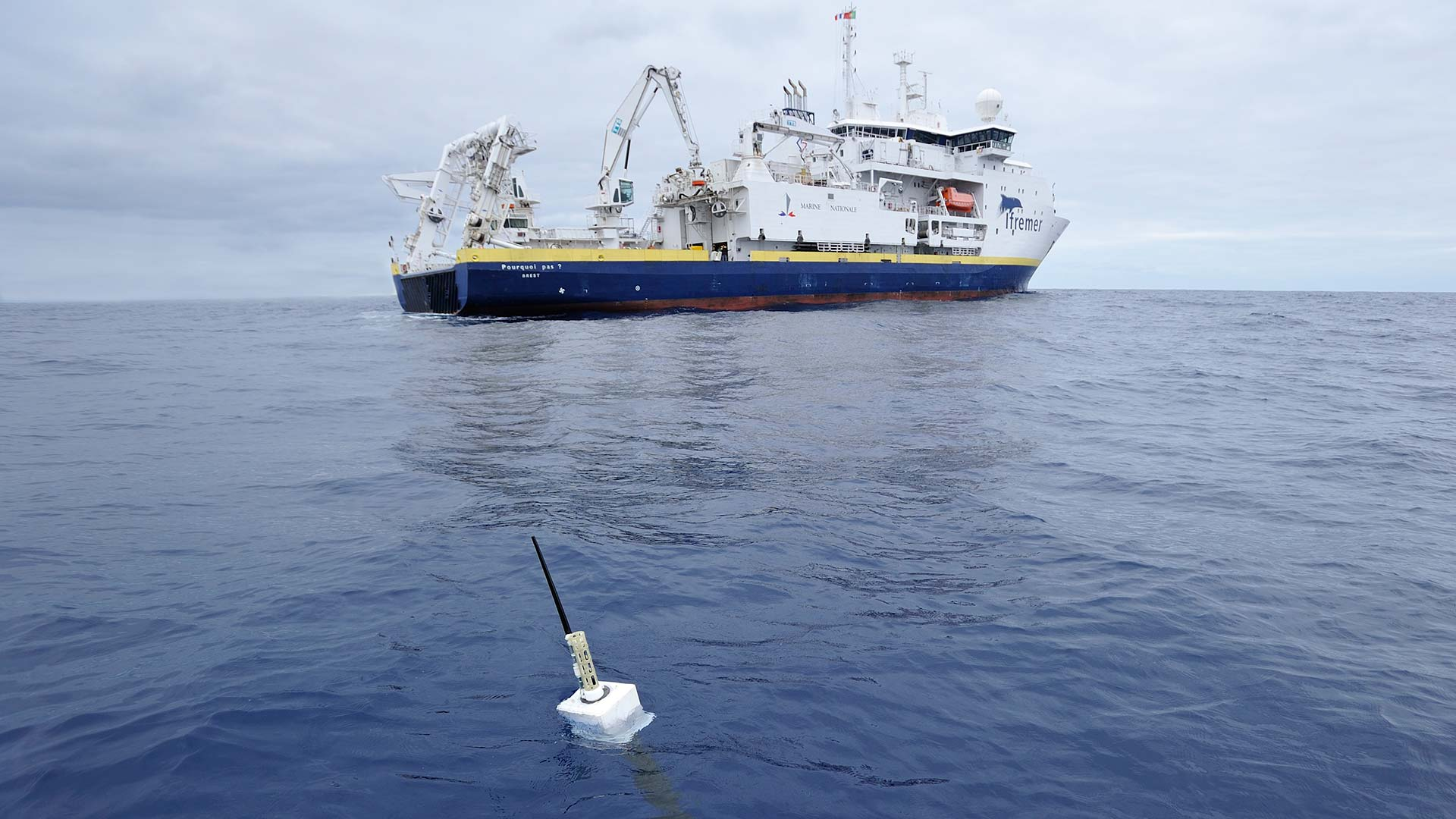 Floating sensors help scientists measure ocean temperatures for clues to causes of climate change.
