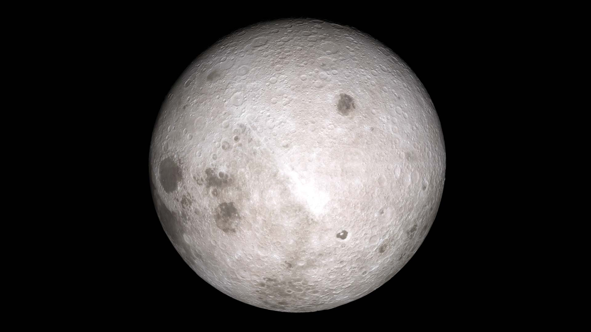The far side of the moon as imaged by NASA's Lunar Reconnaissance Orbiter.