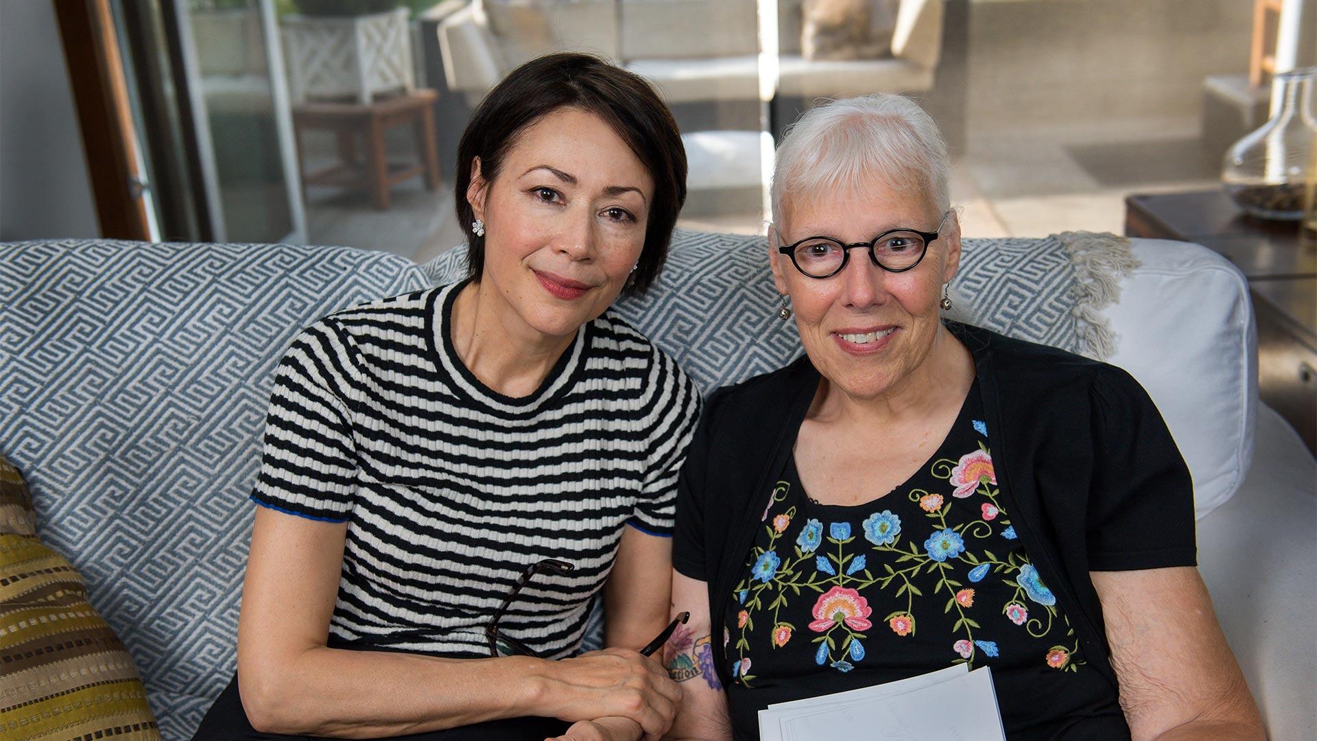 Ann Curry and Zoe Nicholson