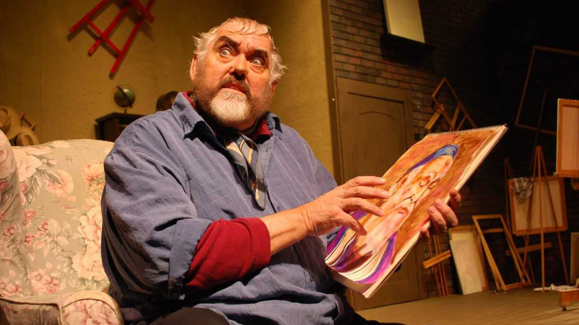 "Actor and playwright Jim Brochu portrays actor and artist Zero Mostel in ""Zero Hour""."