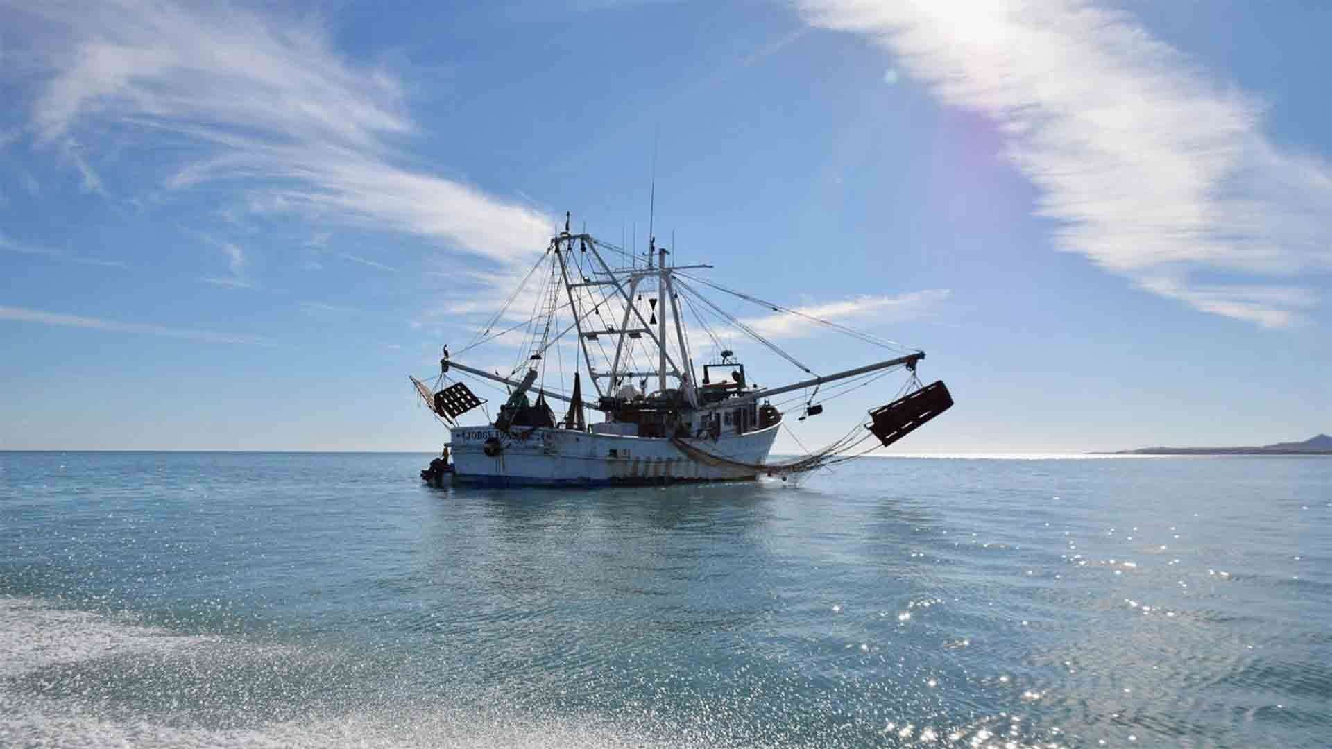 A large fishing boat in the Sea of Cortez.