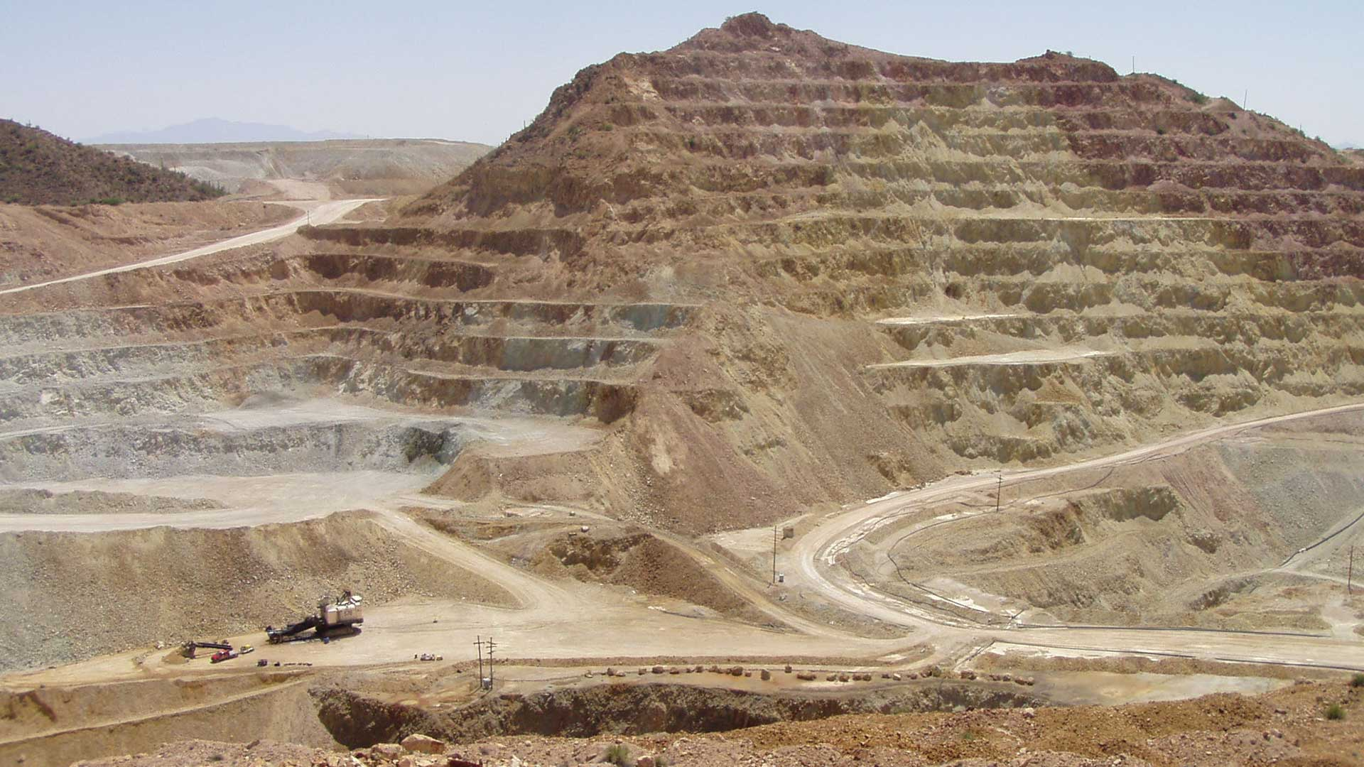 A section of the Asarco-owned Silver Bell Mine, in 2010.