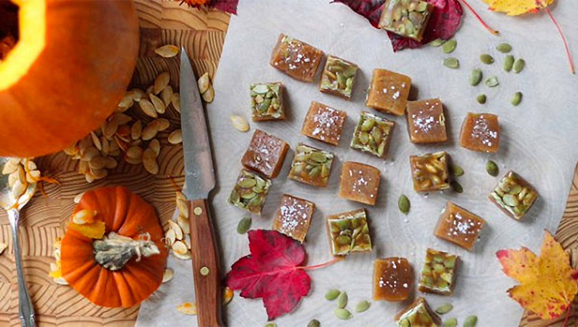 6 plus food salted pumpkin caramels hero