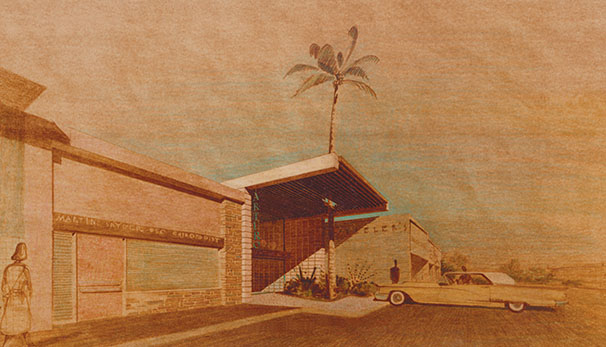 Art that celebrates the classic architecture featured during Architecture Week and Modernism Week in Tucson.