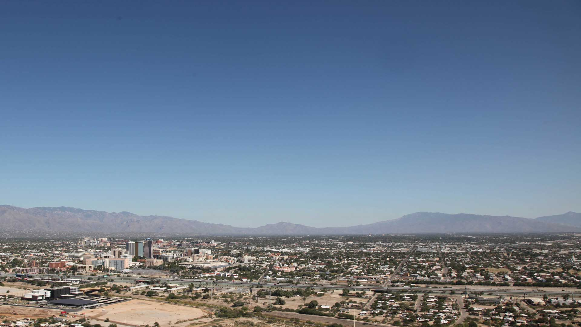The view of the Tucson Skyline from A Mountain. Oct. 23, 2019.