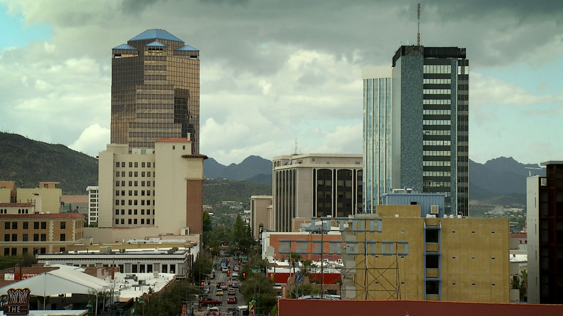 A view of Congress Street in downtown Tucson.