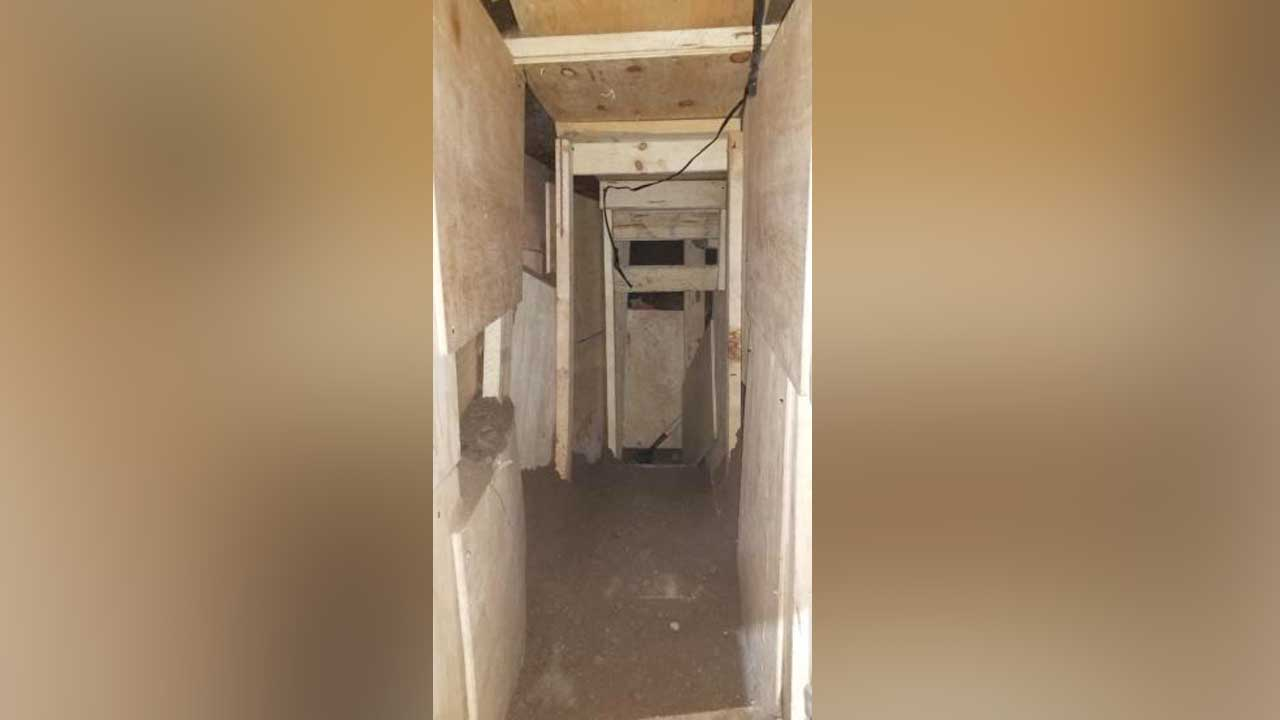 Border Patrol officers discovered a partially built tunnel under the streets in Nogales.  October 24, 2019
