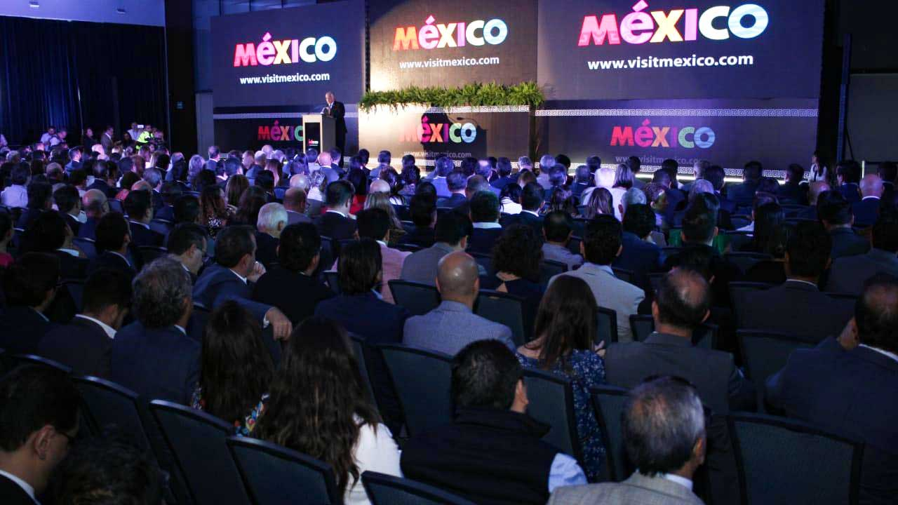 Miguel Torruco, secretary of tourism of Mexico, presenting strategy to promote the country.