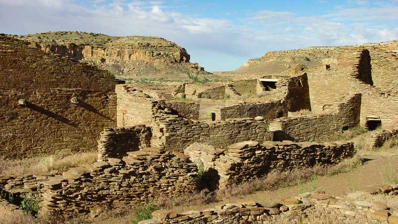 Pueblo Bonito, an important archaeological site in the Chaco Culture National Historical Park.