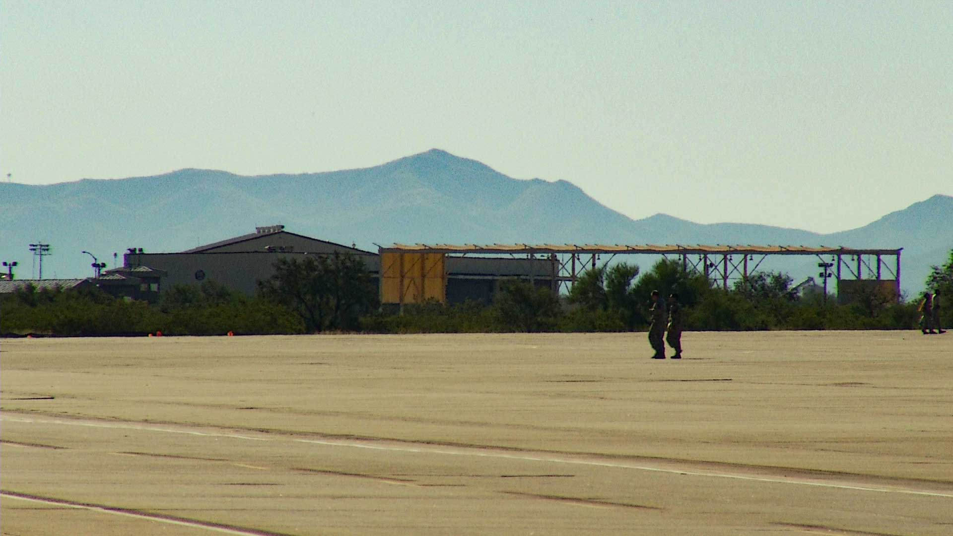 The flight line at Davis-Monthan Air Force Base.