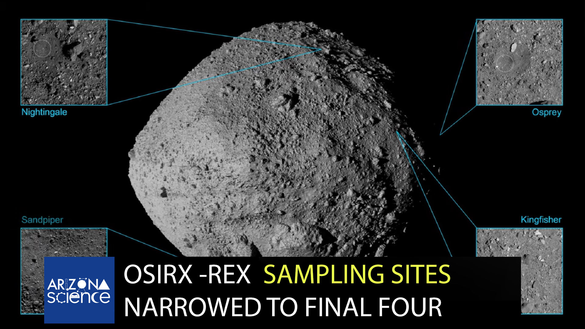 Episode 208: Osiris-Rex sampling sites advance to the final four.