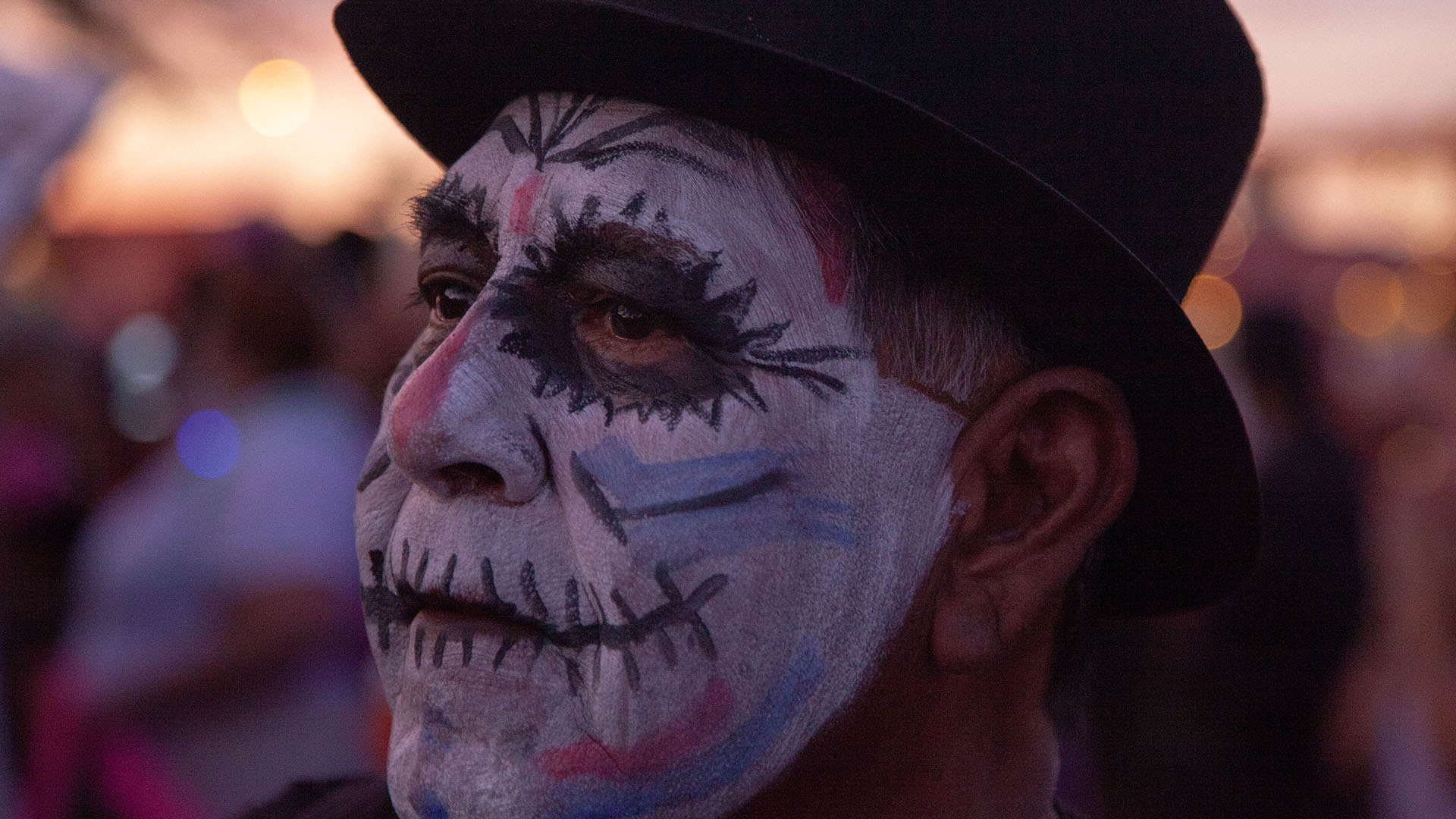 A participant in the 2019 All Souls Procession in Tucson.
