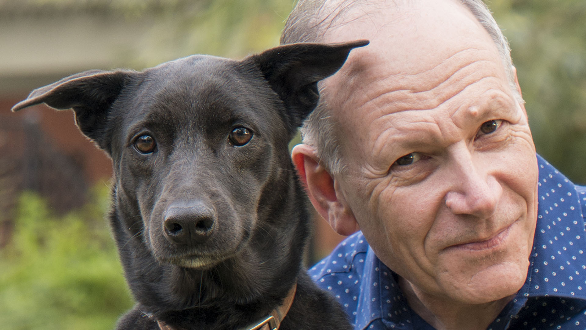 Clive Wynne and dog hero