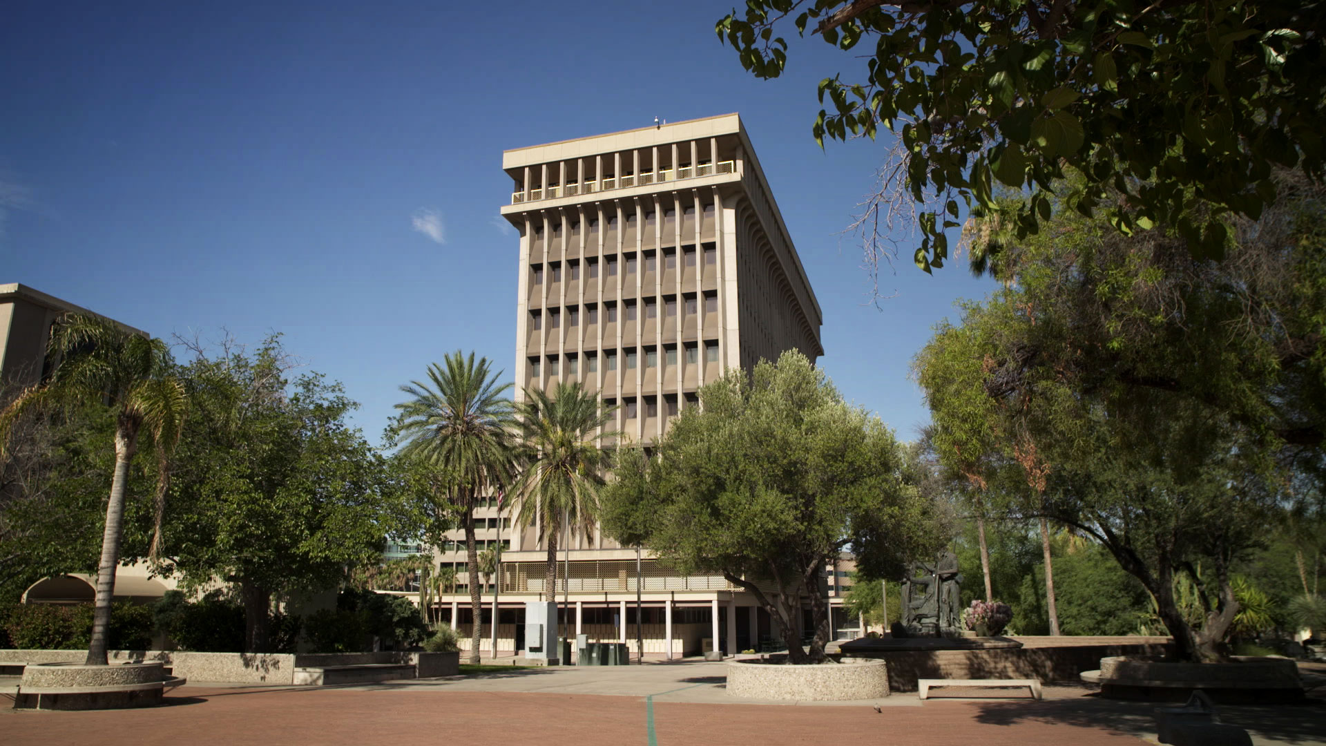 Tucson City Hall seen from El Presidio Plaza.