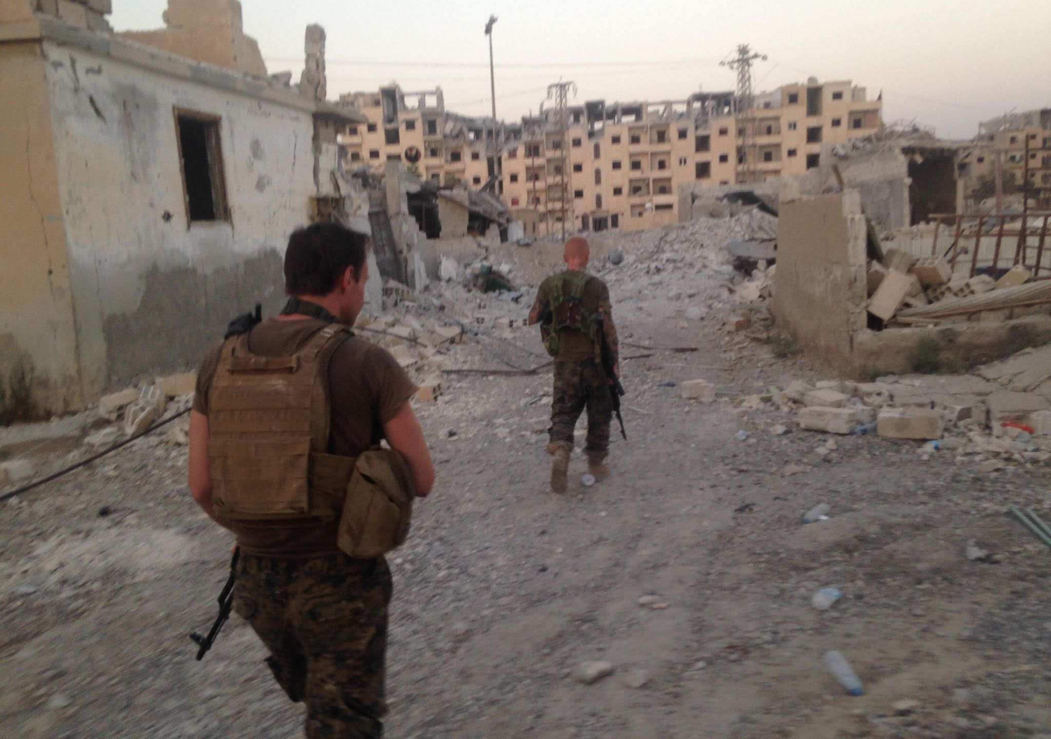 Kevin Howard and Taylor patrolled the streets of Raqqa. In the battle for the city, Taylor was a sniper.