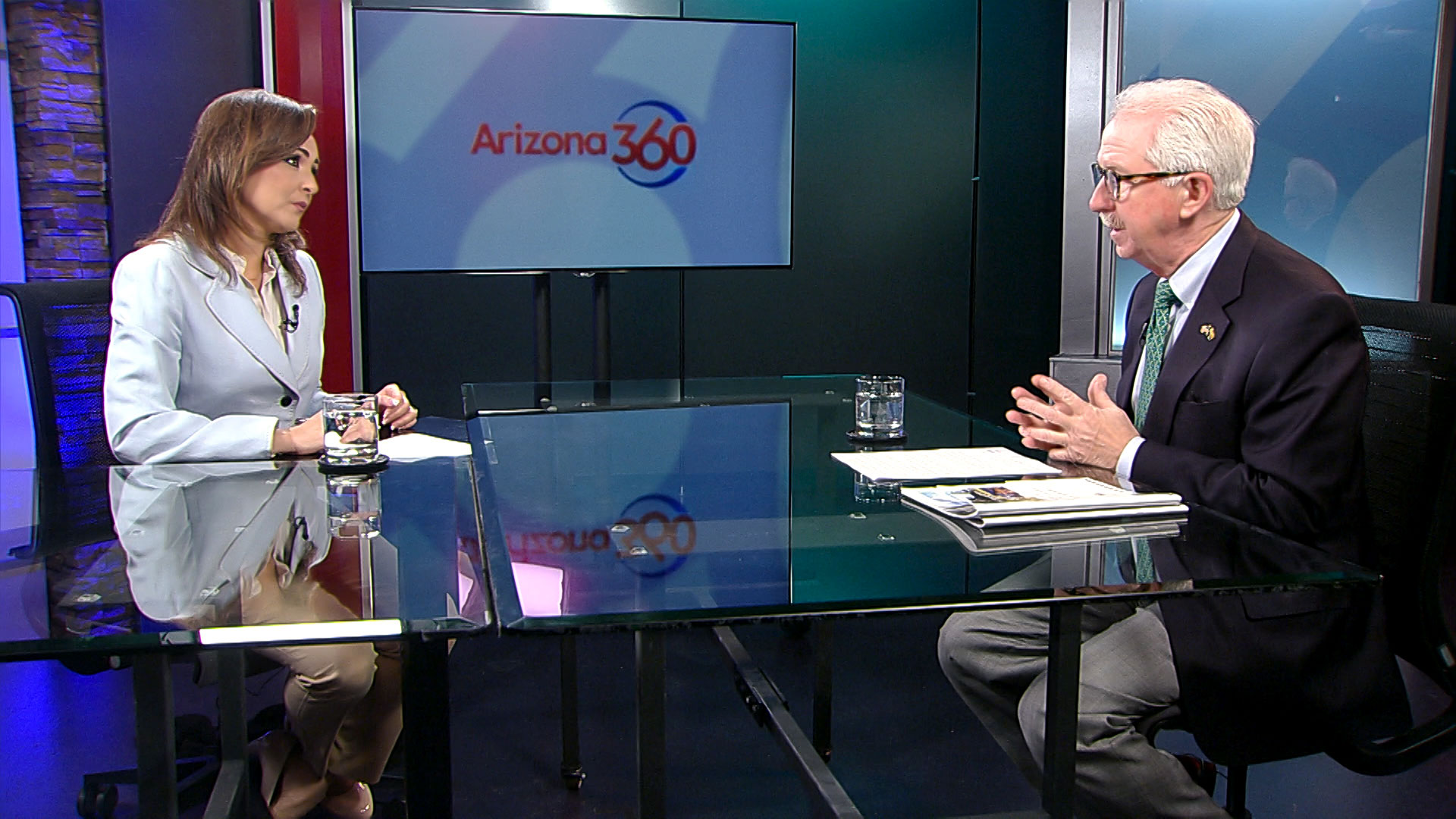Arizona 360 host Lorraine Rivera interviews Alan Maguire at Arizona Public Media. Maguire is president of the Phoenix-based consulting firm the Maguire Company.