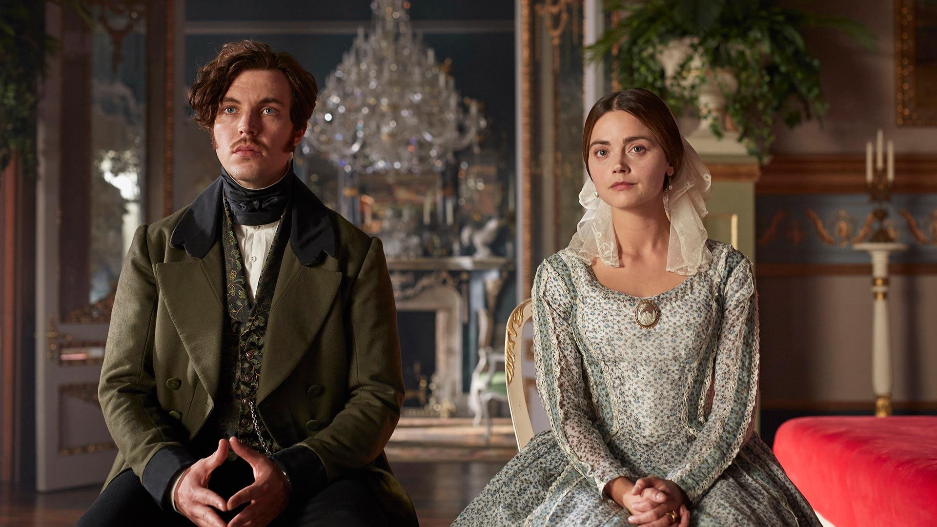 Prince Albert played by Tom Hughes and Queen Victoria played by Jenna Coleman