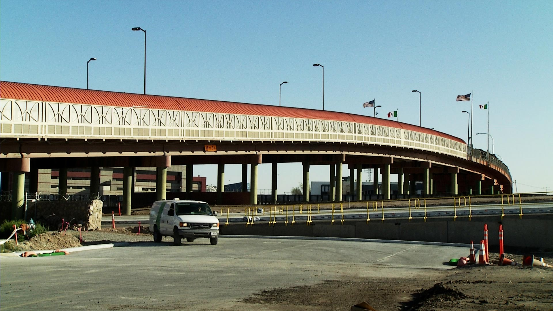 The Paso del Norte International Bridge in El Paso, Texas.