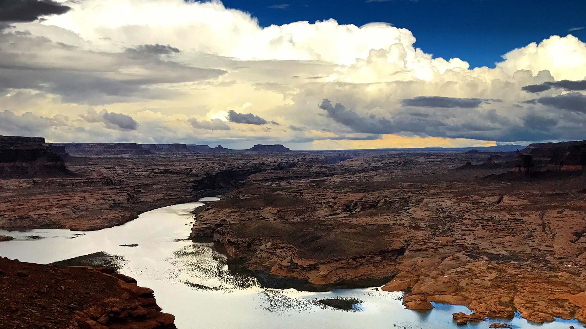 A view of the northern end of Lake Powell, near Hite, Utah.