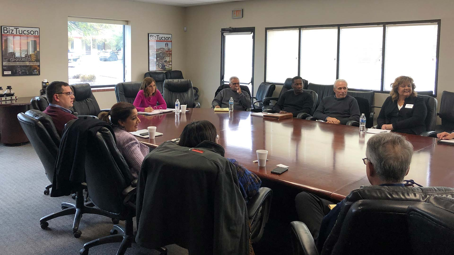 Sen. Martha McSally meets with members of the Southern Arizona Chamber of Commerce Association. Feb 22, 2019
