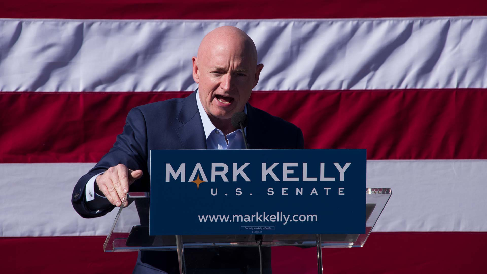 Democratic candidate for U.S. Senate Mark Kelly hits the campaign trail in Tucson. February 23, 2019