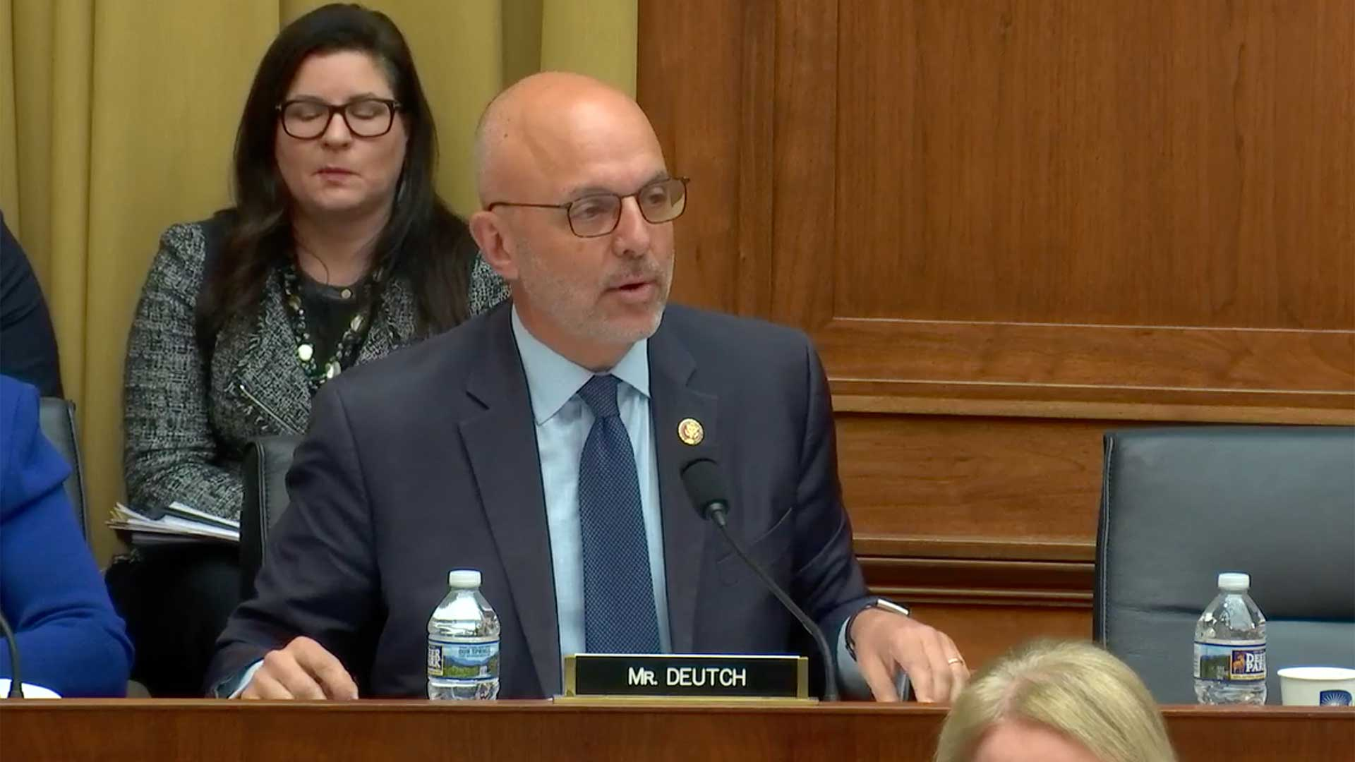 Democratic Rep. Ted Deutch speaking in a video still from a U.S. House Committee on the Judiciary hearing, Feb. 26.