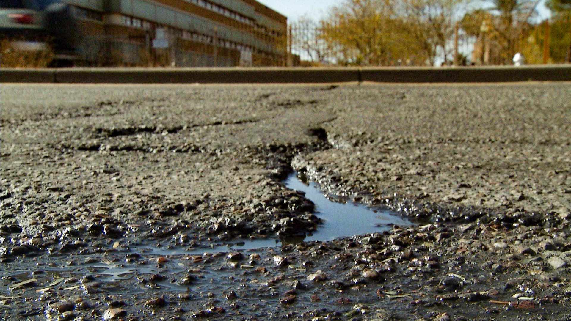 The county is looking for ways to pay for road repairs.
