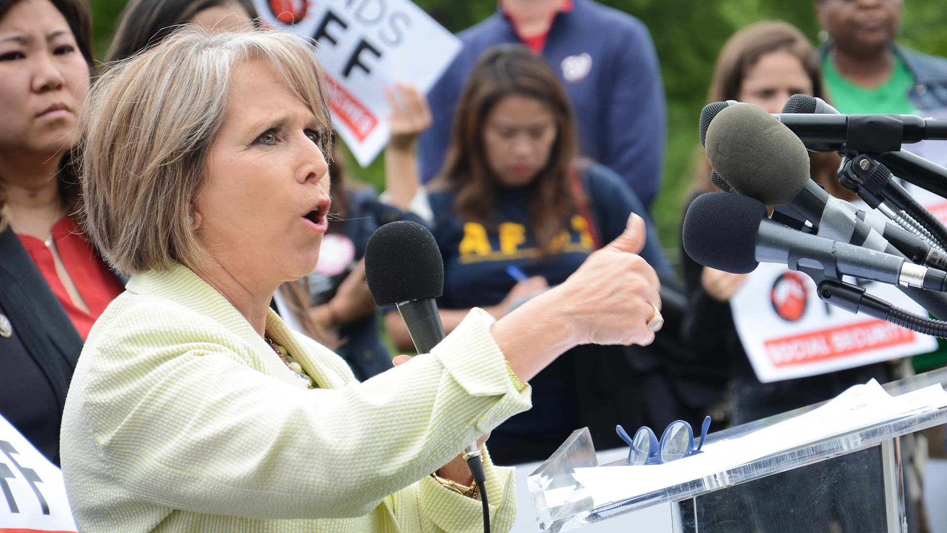 Then-U.S. Rep. Michelle Lujan Grisham in 2017.