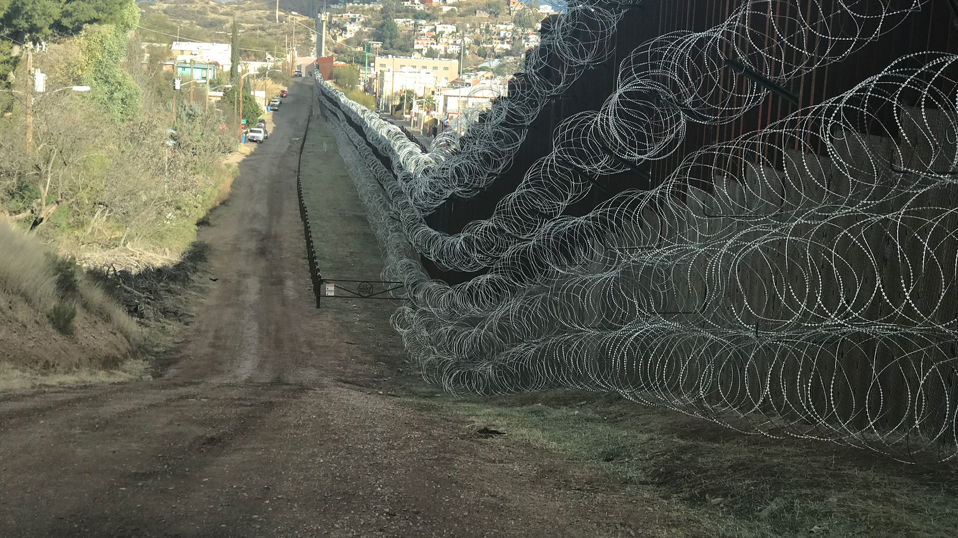 Concertina Wire Wide Shot