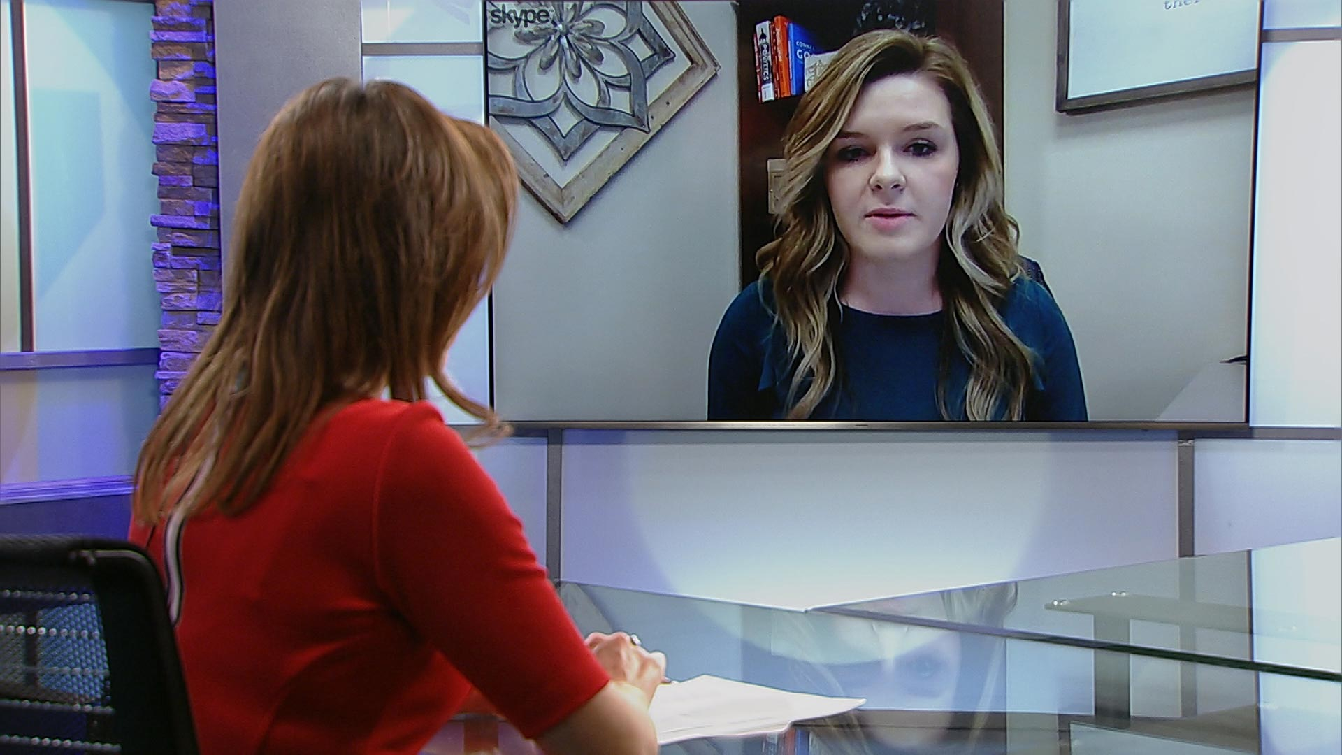 Briana Johnson with the Center for Arizona Policy speaks to Lorraine Rivera in the Arizona 360 studio via Skype on February 6, 2019.