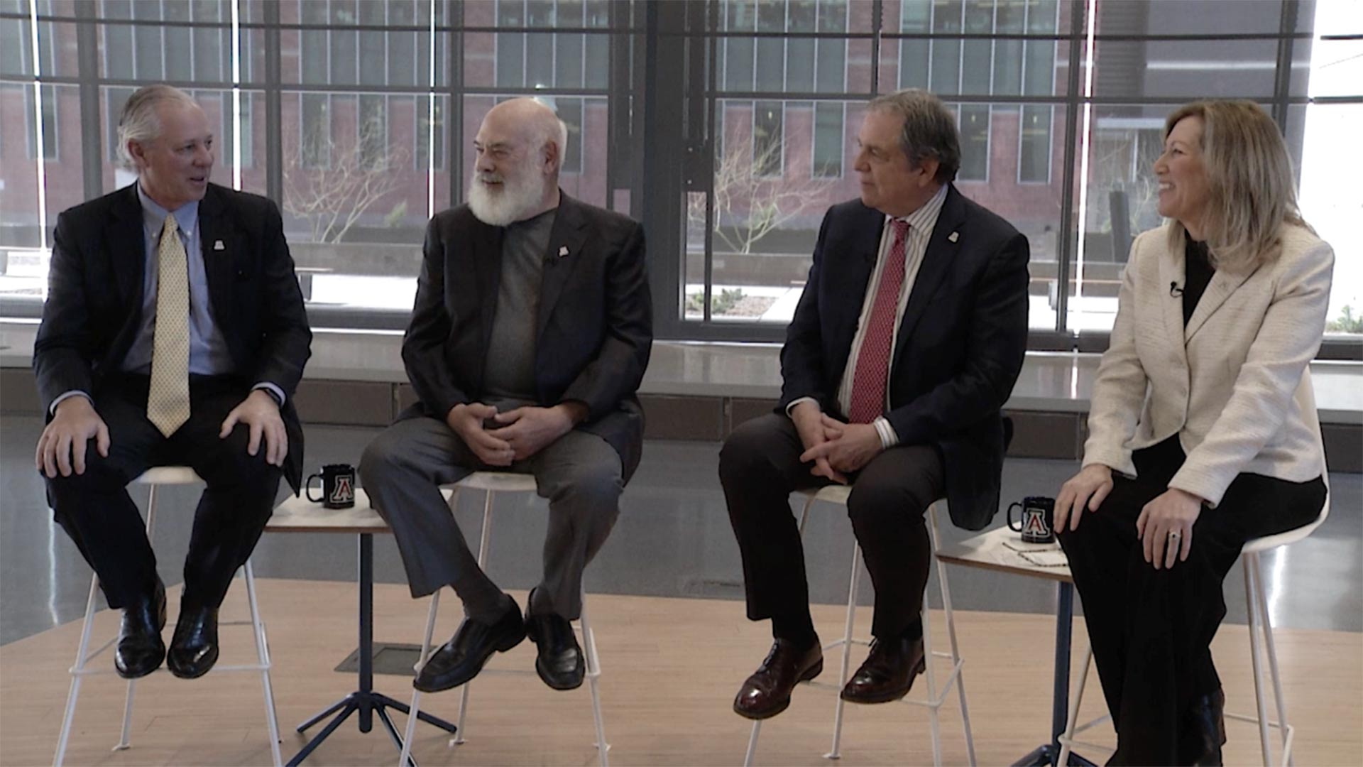 Dr. Andrew Weil speaks at his press briefing at his University of Arizona Health Science Innovation Building on March 12, 2019.