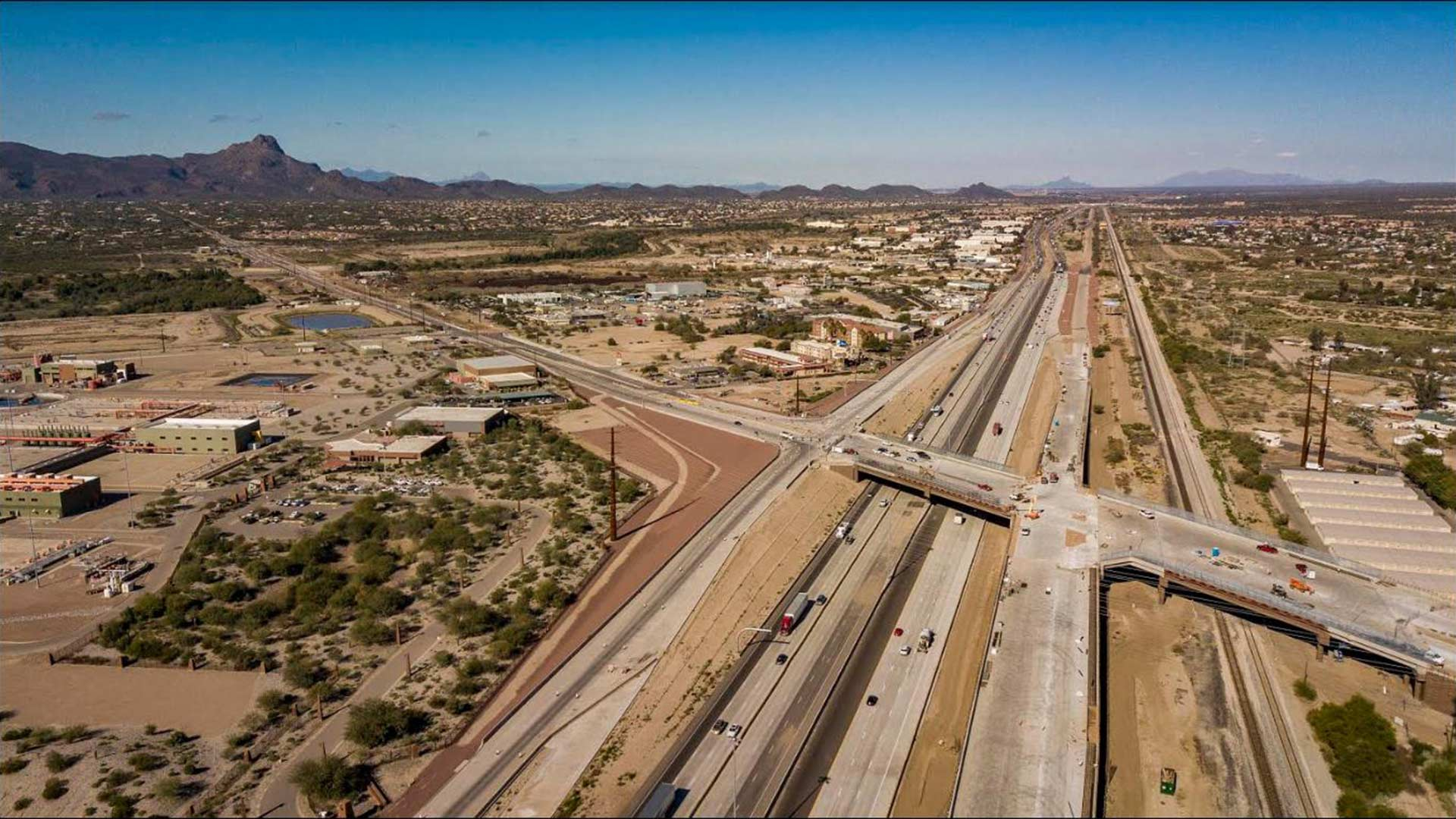The intersection of Ina Road and Interstate 10 seen in a photo posted on the Arizona Department of Transportation Facebook page, March 14, 2019.