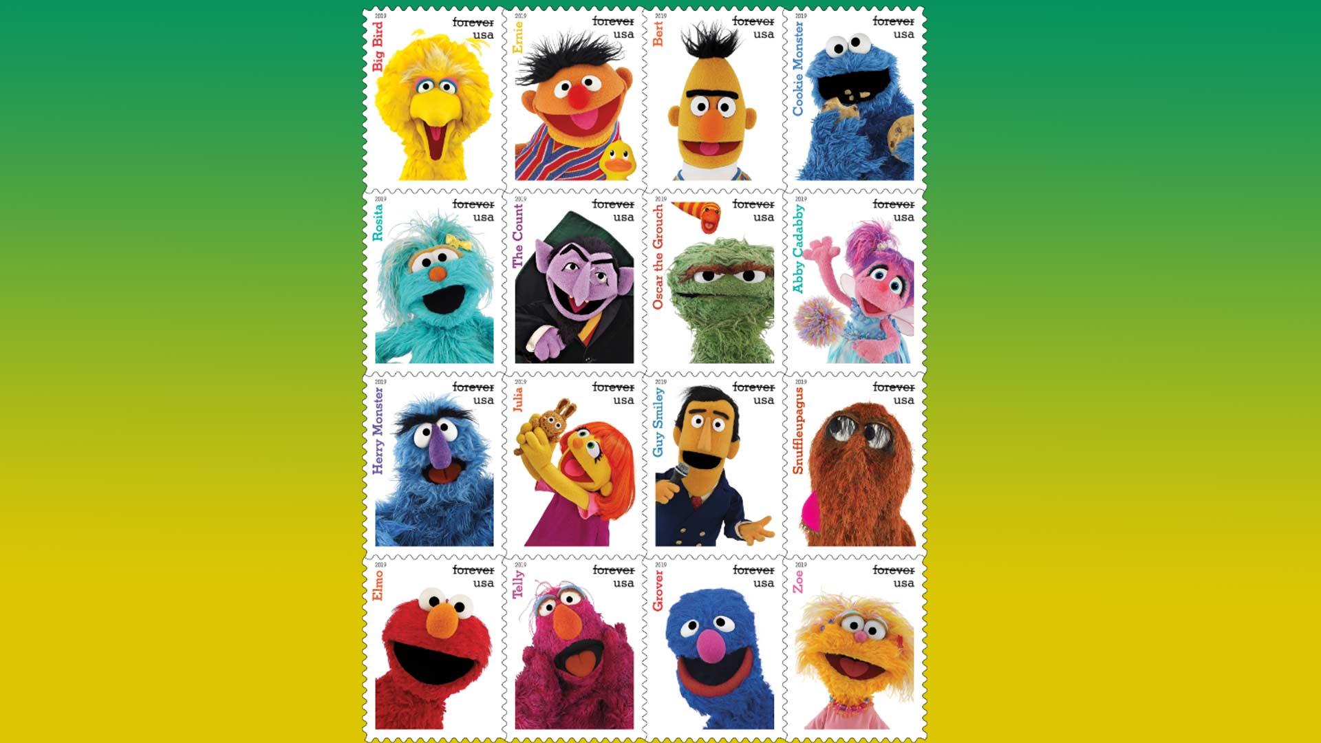 Sesame stamps.