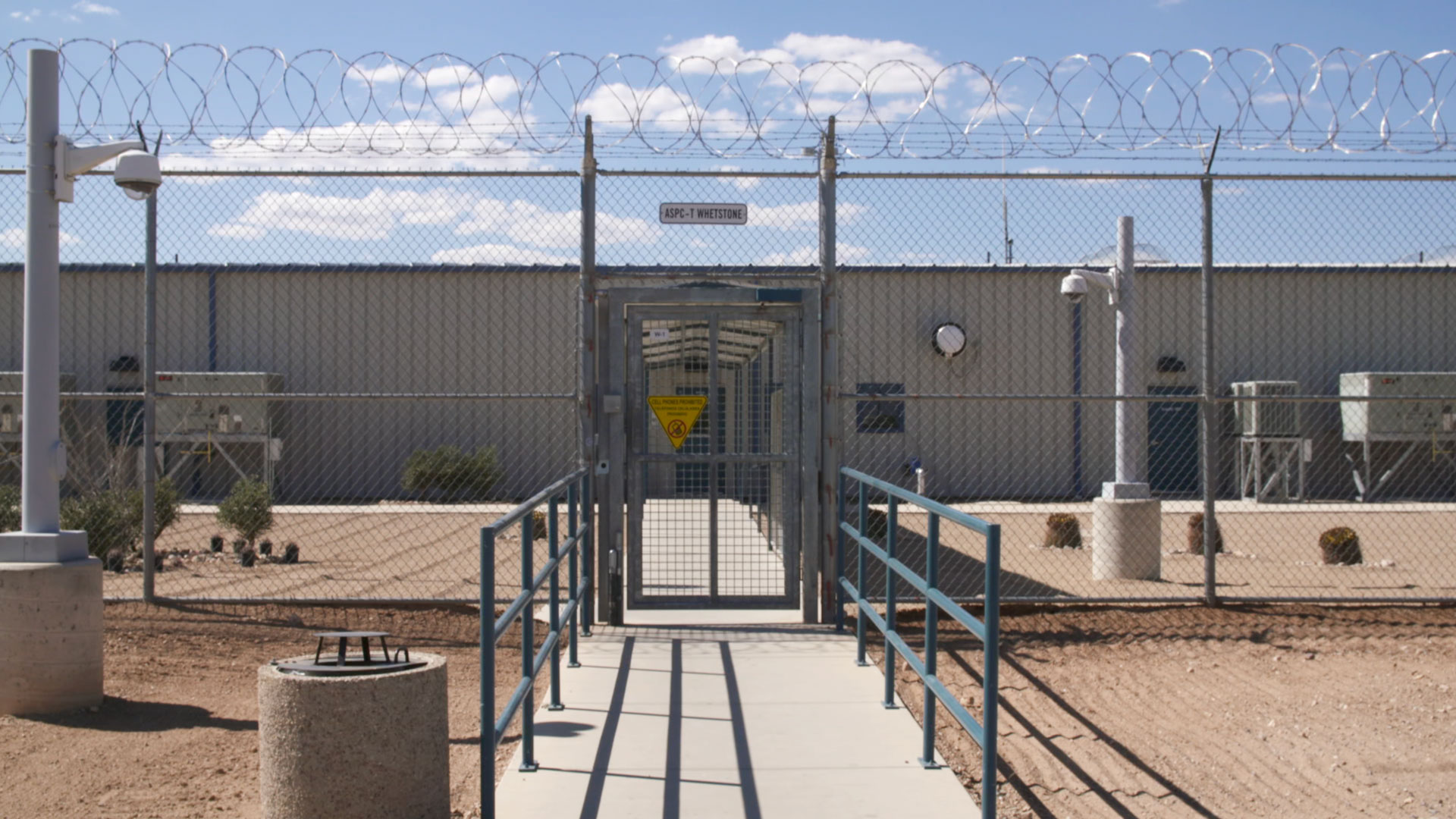 Entrance of an Arizona state prison in 2017.