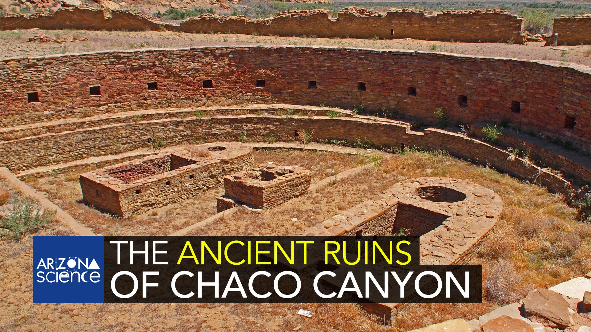 Ruins at Chaco Canyon, Nageezi, New Mexico.