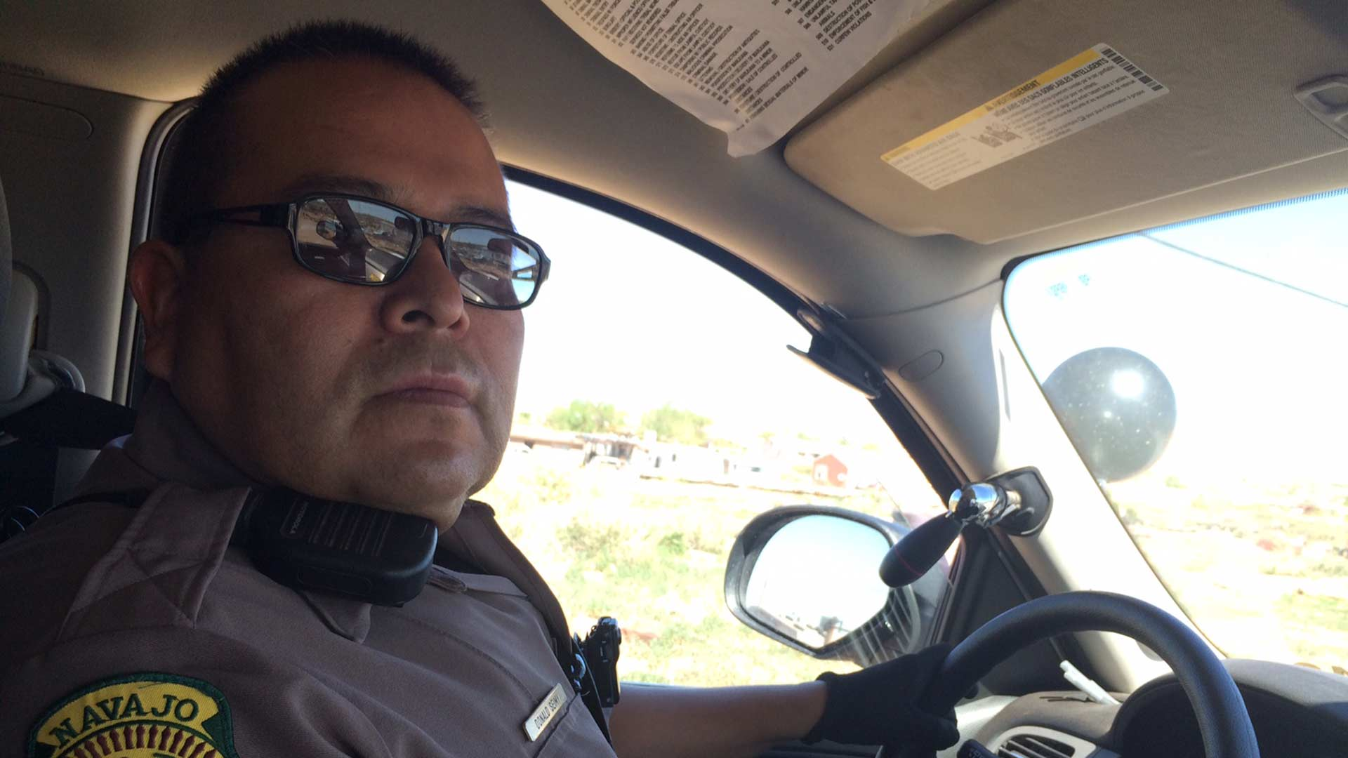 Navajo Nation Police Officer Donald Seimy says the tribe needs more officers.