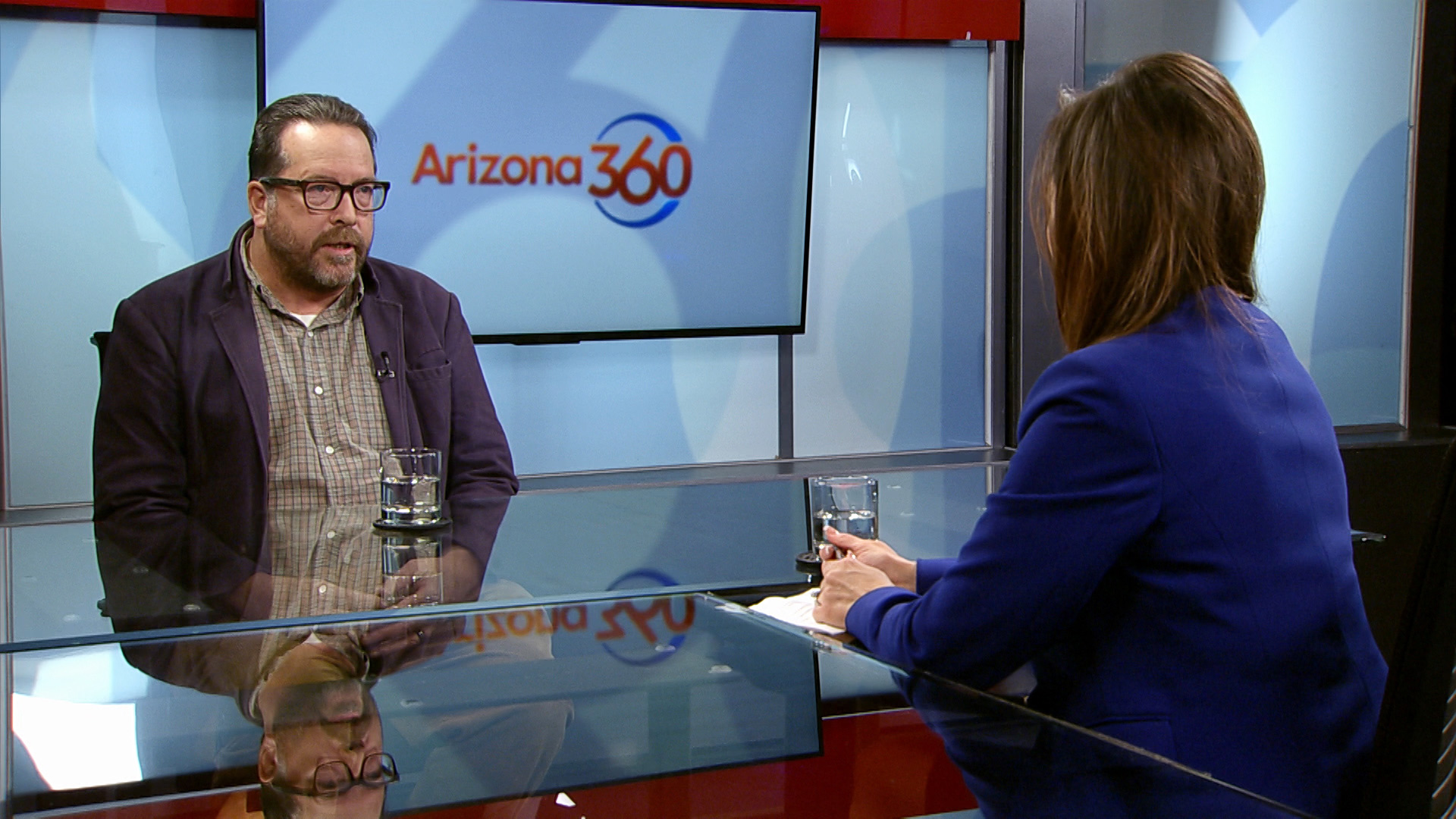 Author Todd Miller joins Lorraine Rivera in the Arizona 360 studio on April 11, 2019.