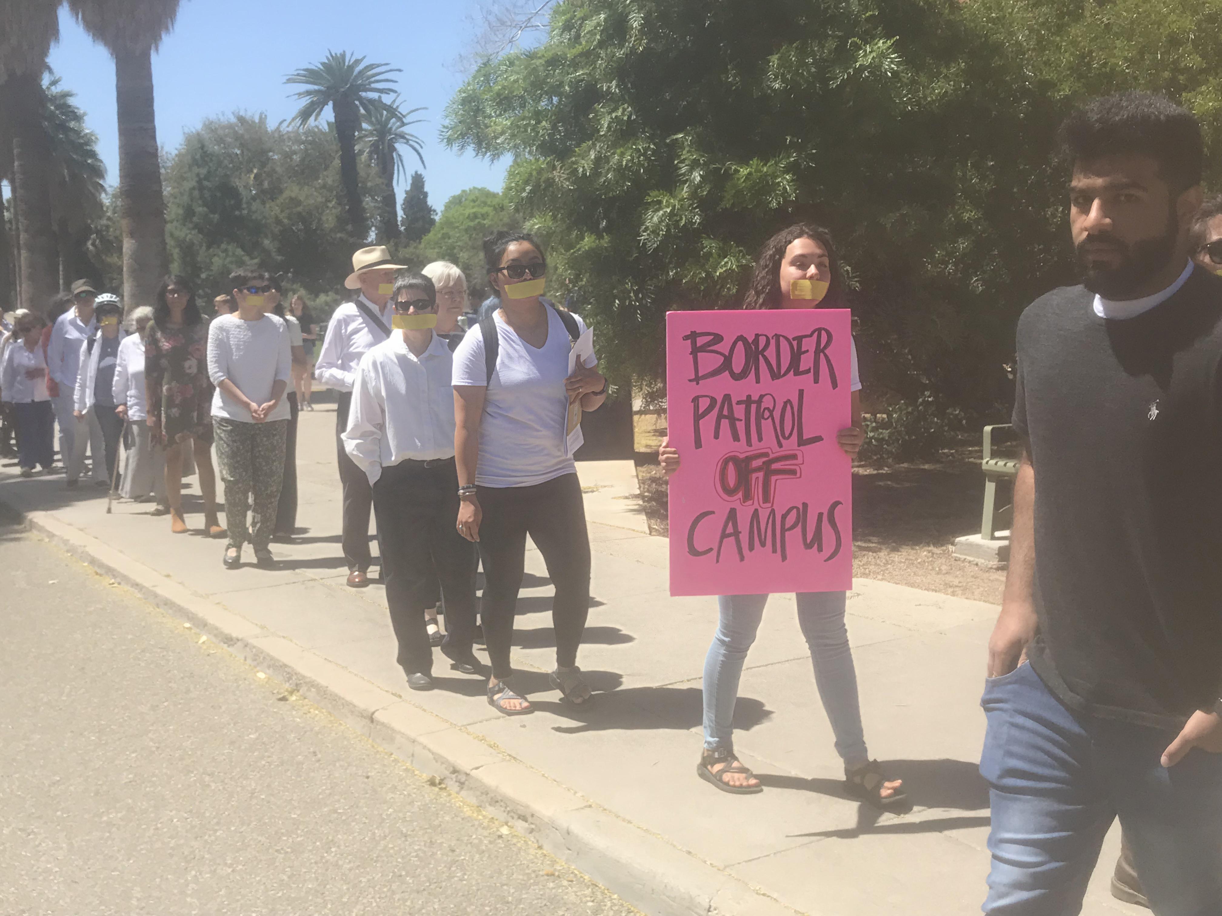 UA Silent Protest_Border Patrol