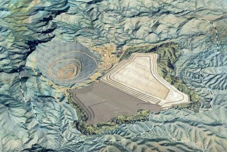 Rosemont Mine Computer rendering