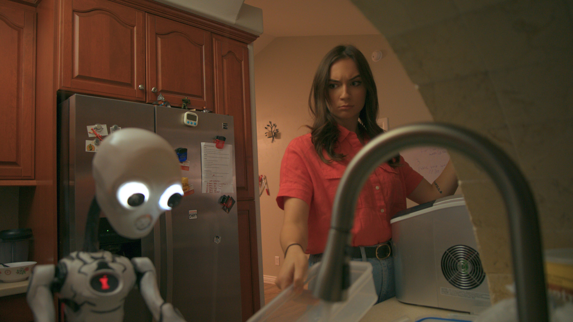 """A scene from Alex Zhao's """"Artificial Incompetence."""""""