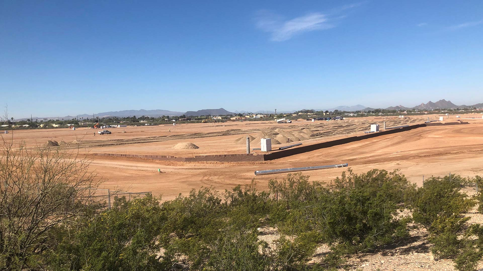 The 145-acre Kino Sports Complex expansion looking southwest from I-10, April 2, 2019