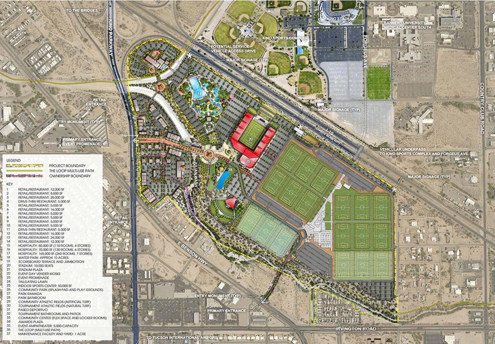 Kino Sports Complex Map