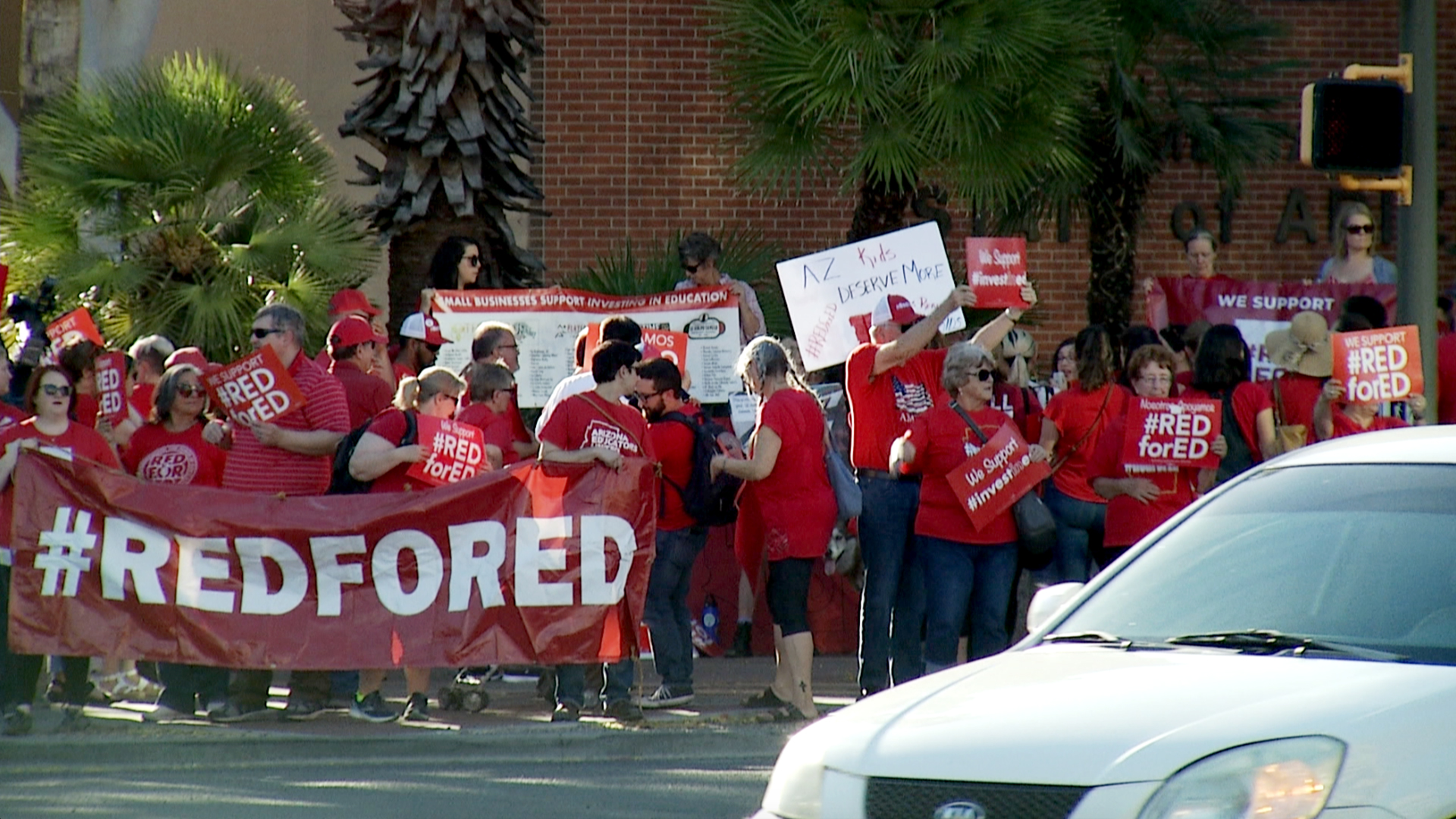 Red for Ed Rally one year later in Downtown Tucson, April 2019
