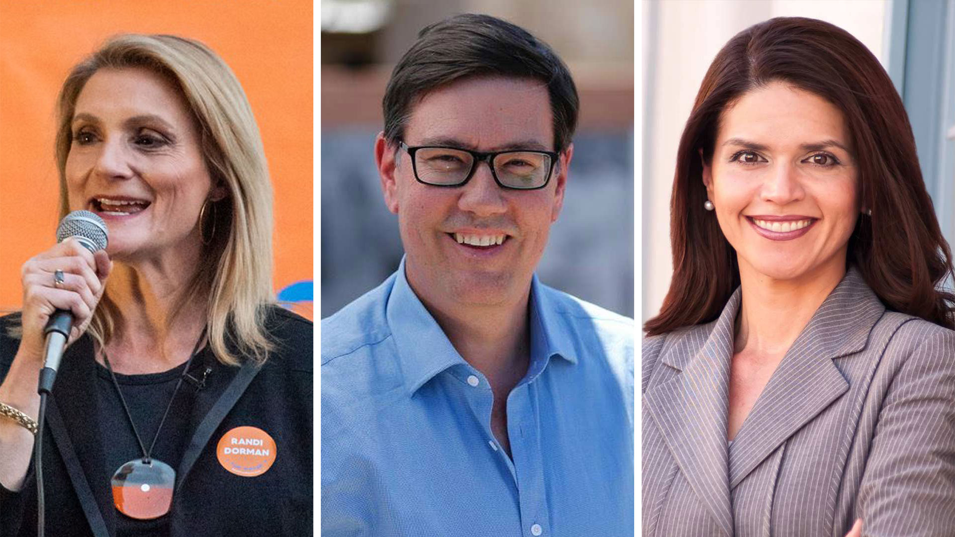 Democratic candidates for mayor of Tucson Randi Dorman, Steve Farley and Regina Romero, from the candidates' Facebook pages.